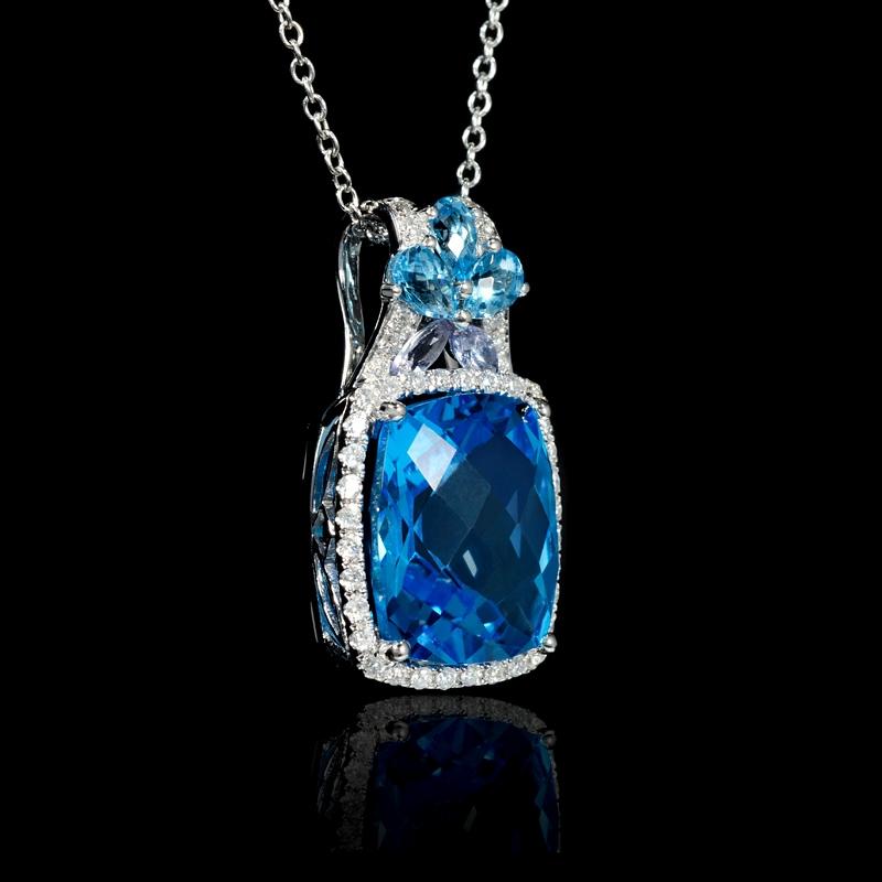 36ct diamond blue sapphire and tanzanite 18k white gold pendant necklace 36ct diamond blue sapphire and tanzanite 18k white gold pendant necklace aloadofball Image collections
