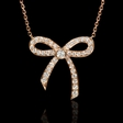 .50ct Diamond 18k White Gold Pendant Necklace