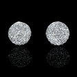 .22ct Diamond 14k White Gold Cluster Earrings