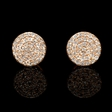 .22ct Diamond 14k Rose Gold Cluster Earrings