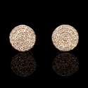 Diamond 14k Rose Gold Cluster Earrings