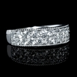 1.09ct Diamond Antique Style 18k White Gold Ring