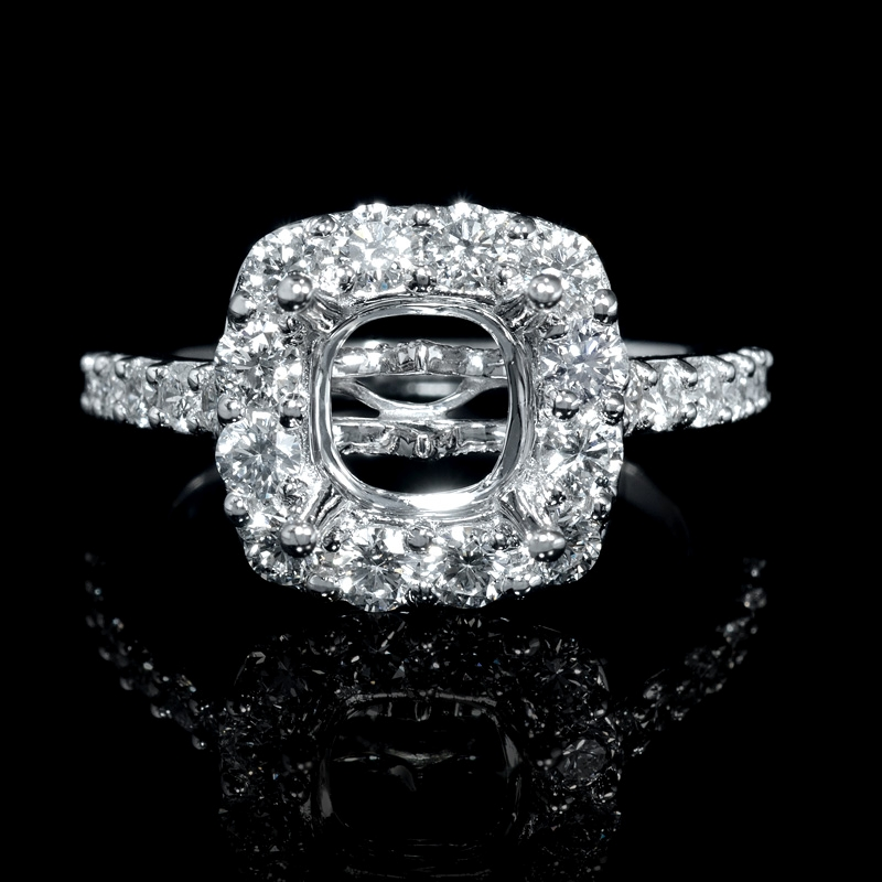 1 23ct antique style 18k white gold halo