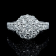 1.63ct Diamond 18k White Gold Ring