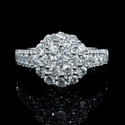 Diamond 18k White Gold Cluster Ring