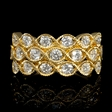 1.33ct Diamond Antique Style 18k Yellow Gold Ring