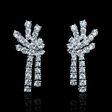 2.30ct Diamond 18k White Gold Dangle Earrings