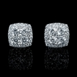 1.44ct Diamond 18k White Gold Cluster Earrings