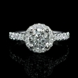 .53ct Diamond 18k White Gold Halo Engagement Ring Setting