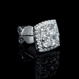 1.80ct Diamond 18k White Gold Cluster Earrings