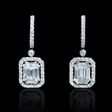1.35ct Diamond 18k White Gold Dangle Earrings