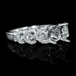 .73ct Diamond 18k White Gold Engagement Ring Setting