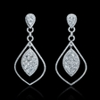 8ct Diamond 18k White Gold Dangle Earrings