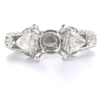 .75ct Diamond Antique Style Platinum Engagement Ring Mounting