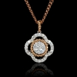 .52ct 18k Two Tone Gold Pendant