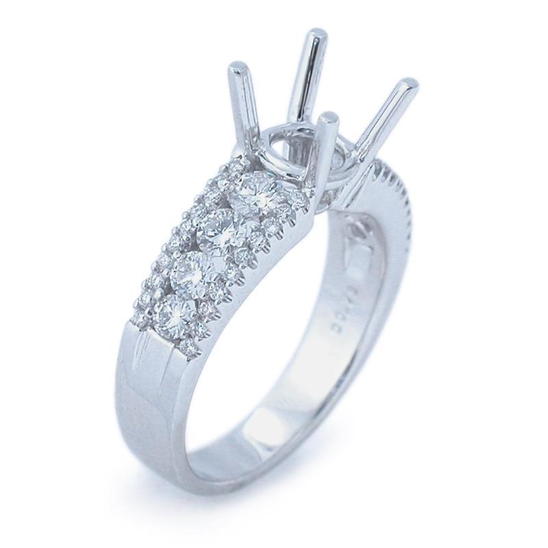 78ct Diamond Platinum Engagement Ring Setting