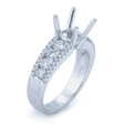 .78ct Diamond Platinum Engagement Ring Setting