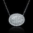 .69ct Diamond 14k White Gold Pendant Necklace