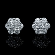 1.78ct Diamond 18k White Gold Cluster Earrings