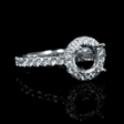 .57ct Diamond 18k White Gold Halo Engagement Ring Setting