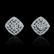 .67ct Diamond 18k White Gold Dangle Earrings
