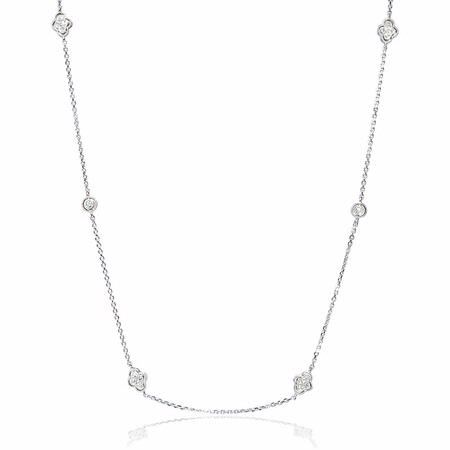 Diamond Chain 14k White Gold Necklace
