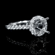.47ct Diamond 18k White Gold Engagement Ring Setting