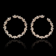 2.87ct Diamond 18k Rose Gold Hoop Earrings