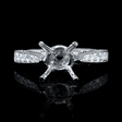 .48ct Diamond Antique Style 18k White Gold Engagement Ring Setting