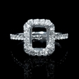 .64ct Diamond 18k White Gold Engagement Ring Setting