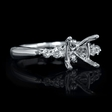 1.50ct Diamond 18k White Gold Engagement Ring Setting
