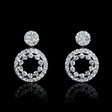 .93ct Diamond 18k White Gold Dangle Earrings