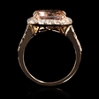 1.07ct Diamond Morganite 18k Rose Gold Ring