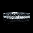 .66ct Diamond 18k White Gold Wedding Band Ring