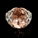 Diamond Morganite 18k White Gold Ring