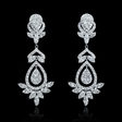 3.13ct Diamond 18k White Gold Dangle Earrings