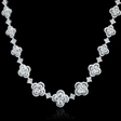 8.41ct Diamond 18k White Gold Necklace