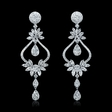 4.41ct Diamond 18k White Gold Dangle Earrings