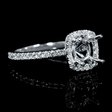 .50ct Diamond 18k White Gold Engagement Ring Setting