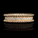 Diamond 18k Rose Gold Eternity Style Wedding Band Ring