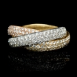 3.35ct Diamond 18k Two Tone Gold Ring