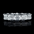 5.35ct Diamond Platinum Eternity Wedding Band Ring