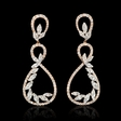 2.43ct Diamond 18k Rose Gold Dangle Earrings