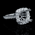 .94ct Diamond 18k White Gold Halo Engagement Ring Setting