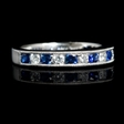 .40ct Diamond and Blue Sapphire 18k White Gold Ring