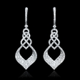 3.35ct Diamond 18k White Gold Dangle Earrings