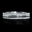 .49ct Diamond 18k White Gold Eternity Wedding Band Ring