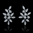 1.60ct Diamond 18k White Gold Dangle Earrings