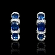 .53ct Diamond and Blue Sapphire 18k White Gold Earrings