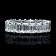 6.09ct Diamond Platinum Eternity Wedding Band Ring
